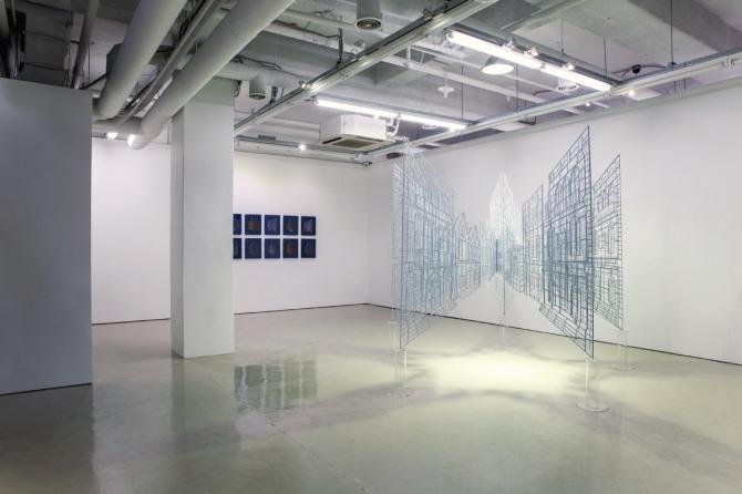 김병주 작 From the spot, 280x280x198cm, steel, powder coating, 2013