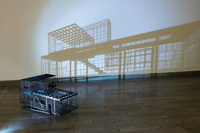 김병주 작 Enumerated Void, 96x56x50cm, steel, urethane coating, 2010