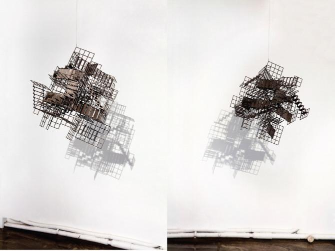 김병주 작 Untitled, 65x65x65cm, steel, urethane paint, 2012