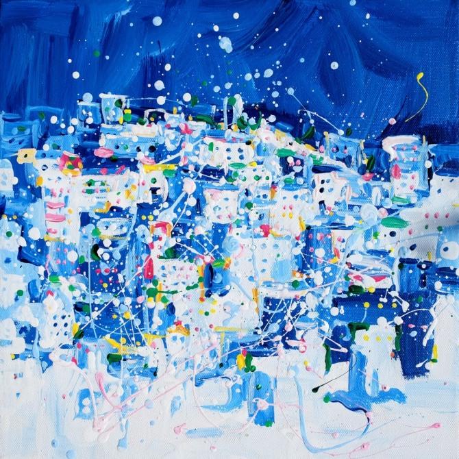 박건우 작 꿈꾸는 도시, 20x20cm, 혼합재료, 2015
