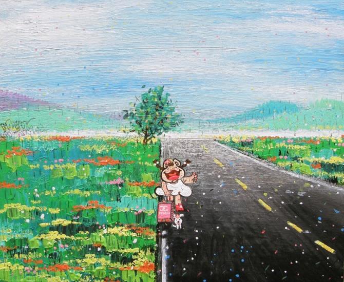 한상윤 작 '마음의 여행으로', Acrylic on Canvas, 73.1x60.4cm, 2015