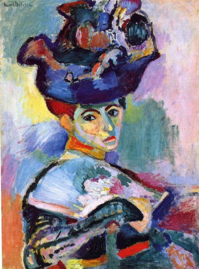 마티스 작 모자를 쓴 여성(Femme au chapeau), 1905