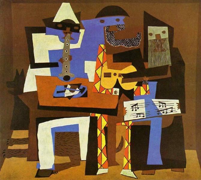 피카소 작 세 명의 악사(Three Musicians), 1921