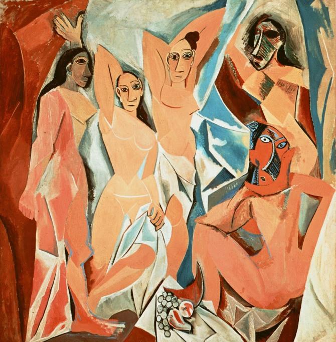 피카소 작 아비뇽의 처녀들, 1907