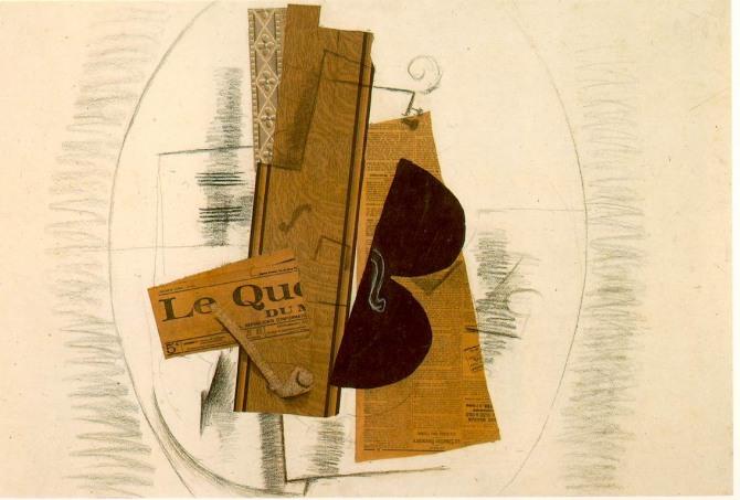 브라크 작 바이올린과 파이프(일상) Violin and Pipe(Le Quotidien), 1913