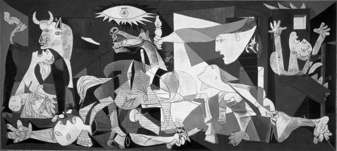 피카소 작 게르니카 Guernica, 1937