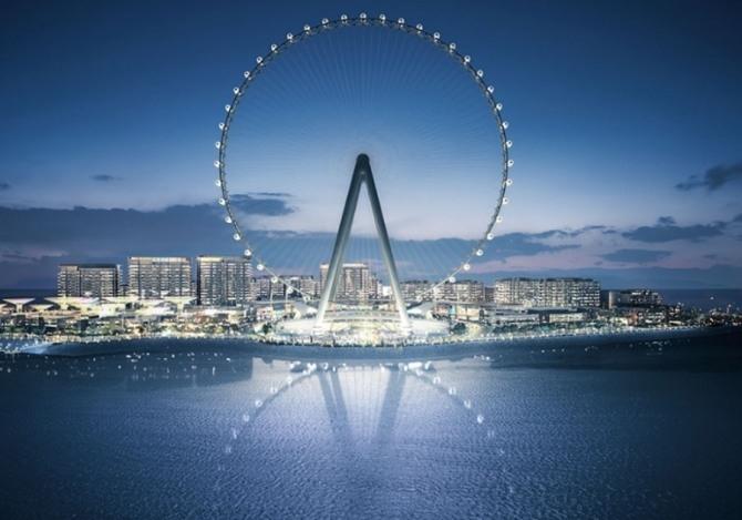 내년 10월 열리는 '두바이 엑스포 2020'의 행사장인 메라스 블루워터스(Meraas Bluewaters)에 세워질 회전관람차 '아인 두바이(두바이 아이)' 가상도. 사진=Construction Week 캡처