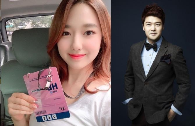 MC 전현무(42)와 이혜성(27) KBS 아나운서가 12일 열애를 인정했다. 사진=이혜성 아나운서 인스타그램 캡처, 전현무 SM C&C 제공