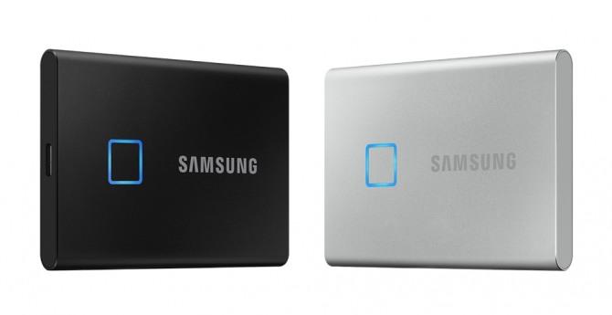 삼성전자 포터블 SSD 'T7 Touch'. 사진=삼성전자 제공