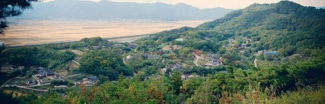 명당으로 소문난 경주 양동마을.