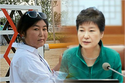 국정농단 의혹을 사고 있는 '비선실세' 최순실(왼쪽)과 박근혜 대통령