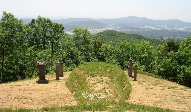 충남 천안군 북면 은지리 은석산의 어사 박문수의 묘로 장군대좌형이다. 안산 너머로 병천읍내와 매봉산이 한눈에 들어 온다.
